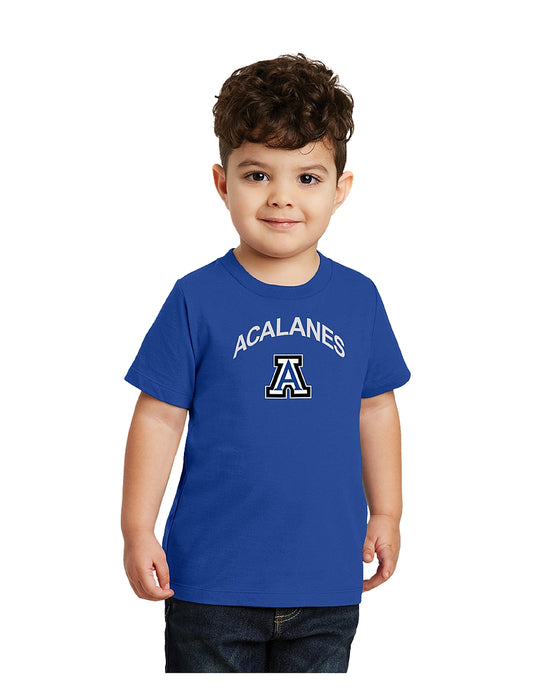 Port & Company® Toddler Fan Favorite Tee Royal with Screen Printed Acalanes Arch Logo