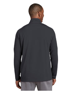 "Sport-Tek® Sport-Wick® Textured 1/4-Zip Pullover Grey with Embroidered Acalanes ""A"" Logo"