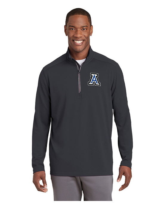 Sport-Tek® Sport-Wick® Textured 1/4-Zip Pullover Grey with Embroidered Acalanes
