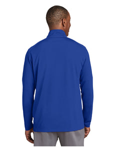 "Sport-Tek® Sport-Wick® Textured 1/4-Zip Pullover Royal with Embroidered Acalanes ""A"" Logo"