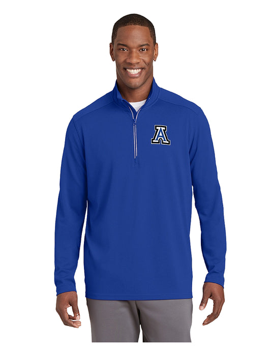 Sport-Tek® Sport-Wick® Textured 1/4-Zip Pullover Royal with Embroidered Acalanes