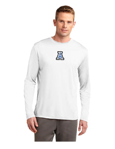 "Sport-Tek® Long Sleeve PosiCharge® Competitor™ Tee White with Screen Printed Small ""A"" Logo"