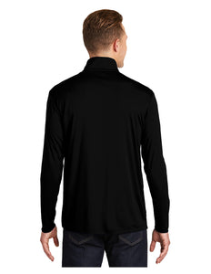 "Sport-Tek® PosiCharge® Competitor™ 1/4-Zip Pullover Black with Embroidered ""A"" Logo"