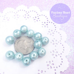 Pastel Blue Pearl Beads