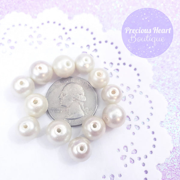 Pink-Tinted Cream Pearl Beads