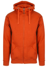 Hoodie Med Zip Herre Safety Orange (680)