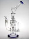 Cyclone Helix Double Recycler glass bong