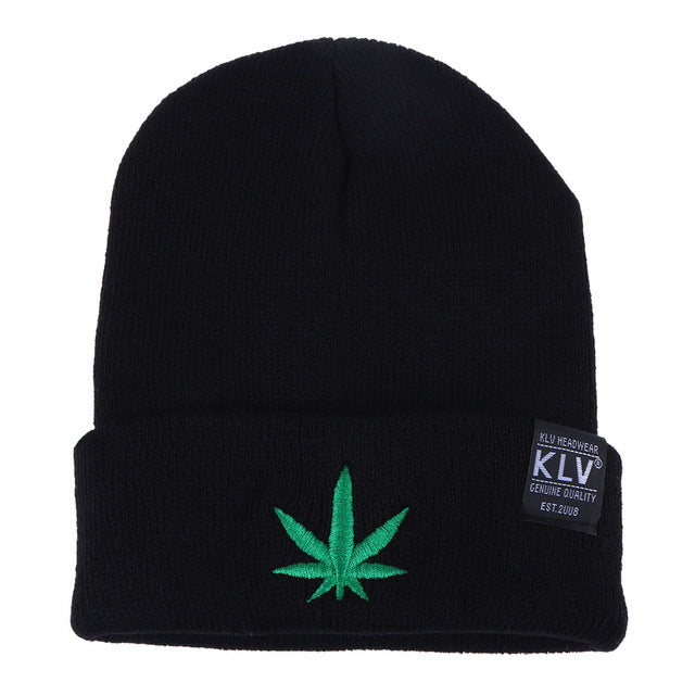 c432e25b KLV Cannabis leaf Beanie | The Lit Sesh
