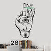 "Vinyl Wall Decal Hamsa Hand Eye Hemp Cannabis Hippie Sticker Home Room Decor Art Removable Mural H97cm x W56cm/38.4"" x 22.5"""