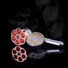 Revolver Pipe Weed Grinder Six Shooter Pipe Smoking Creative Tobacco Pipe Herb Grinder Smoking Pipes Grinder Tobacco Crusher