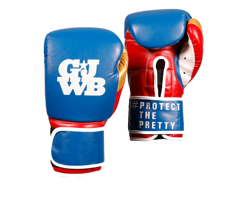 Multicoloured women's boxing glove with GJWB logo