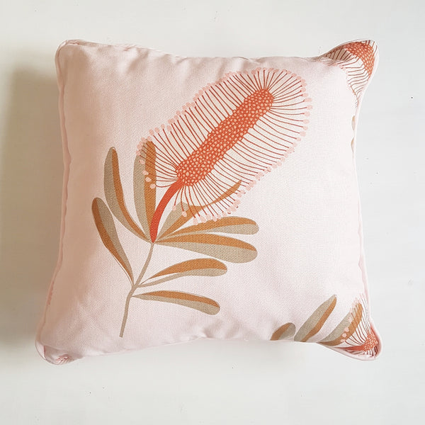 Pink Banksia Cushion