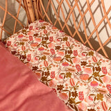 Blush Floral Cot Fitted Sheet