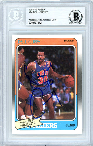 Dell Curry Autographed 1988-89 Fleer Rookie Card #14 Cleveland Cavaliers