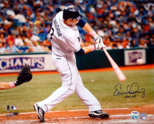 Evan Longoria Autographed 16x20 Photo Tampa Bay Rays
