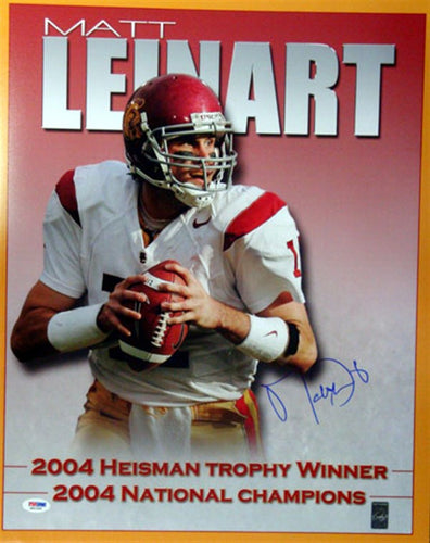Matt Leinart Autographed 16x20 Photo USC Trojans PSA/DNA
