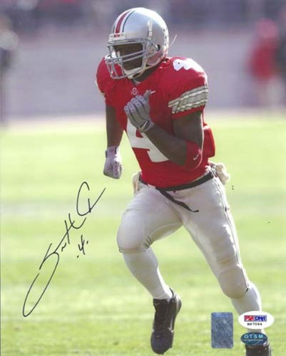 Santonio Holmes Autographed 8x10 Photo Ohio State Buckeyes PSA/DNA