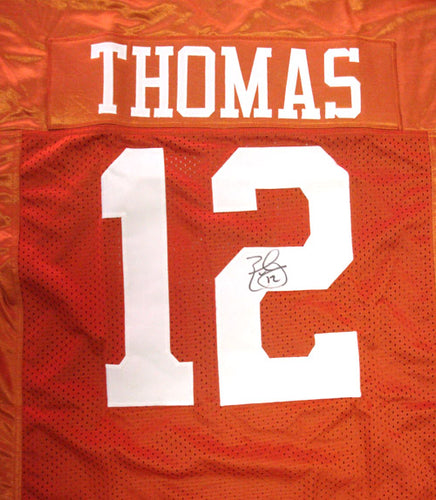 Texas Longhorns Earl Thomas Autographed Orange Jersey