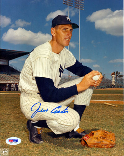 Jim Coates Autographed 8x10 Photo New York Yankees PSA/DNA