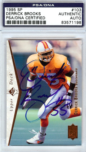 Derrick Brooks Autographed 1995 Upper Deck SP Rookie Card #103 Tampa Bay Buccaneers PSA/DNA