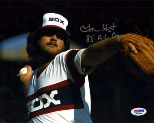 Lamarr Hoyt Autographed 8x10 Photo Chicago White Sox PSA/DNA