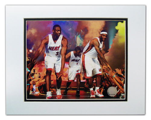 Miami Heat 8x10 Matted Big 3 Fans