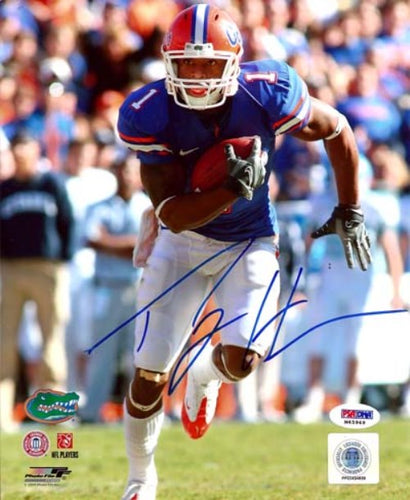 Percy Harvin Autographed 8x10 Photo Florida Gators PSA/DNA