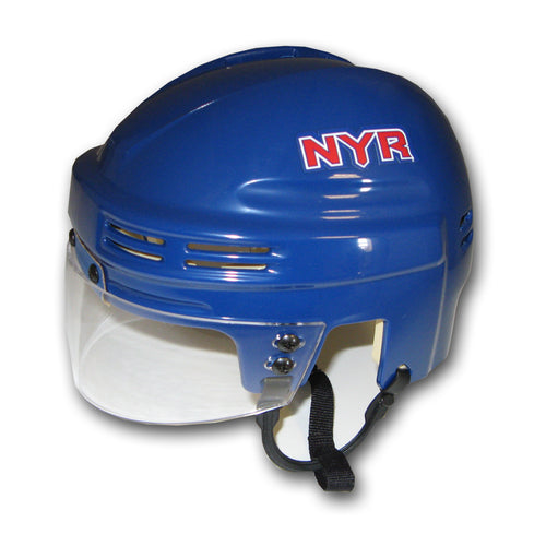 Official NHL Licensed Mini Player Helmets - New York Rangers