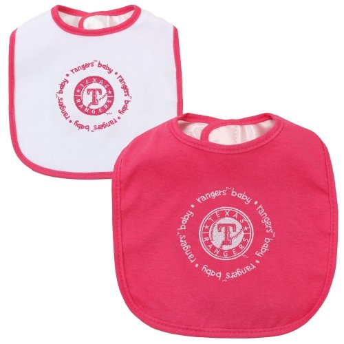 Baby Fanatic Team Color Bibs  Texas Rangers  2-Count