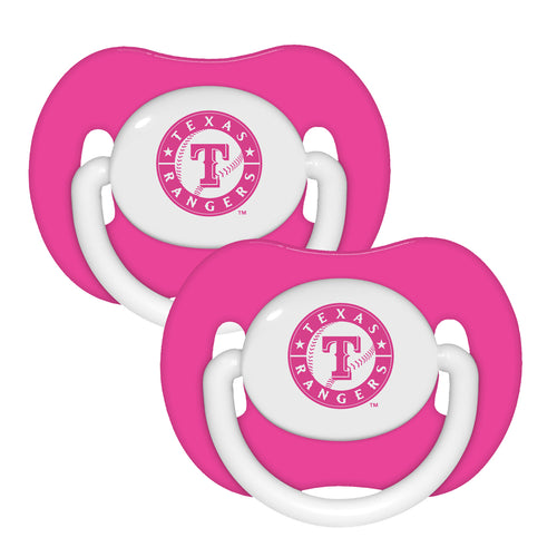 2 Pack Pink Pacifiers - Texas Rangers