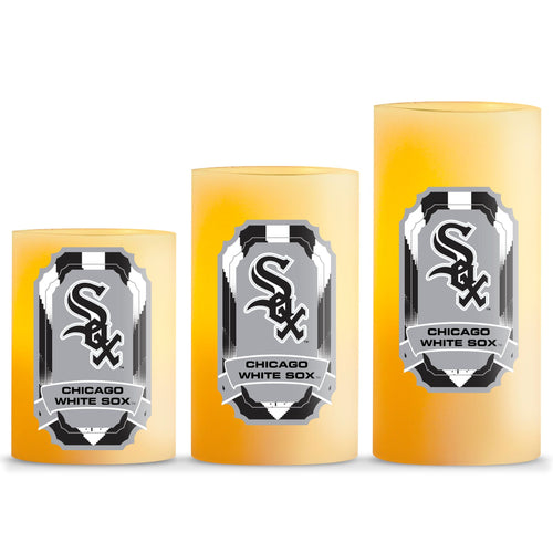 Duckhouse MLB Chicago White Sox 3-Piece LED Candle Gift Set
