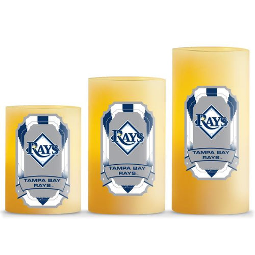 Duckhouse MLB Tampa Bay Rays 3-Piece LED Candle Gift Set