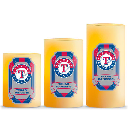 Duckhouse MLB Texas Rangers 3-Piece LED Candle Gift Set