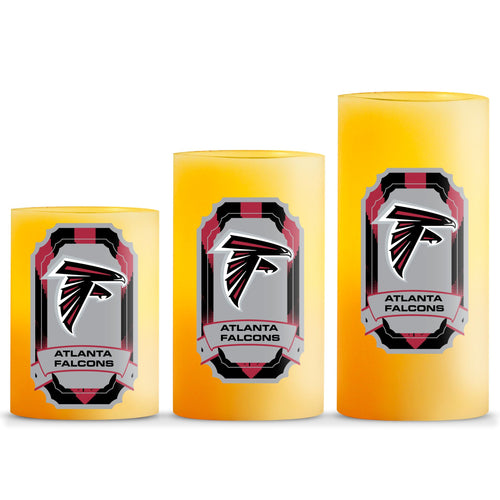 Duckhouse NFL Atlanta Falcons 3-Piece LED Candle Gift Set