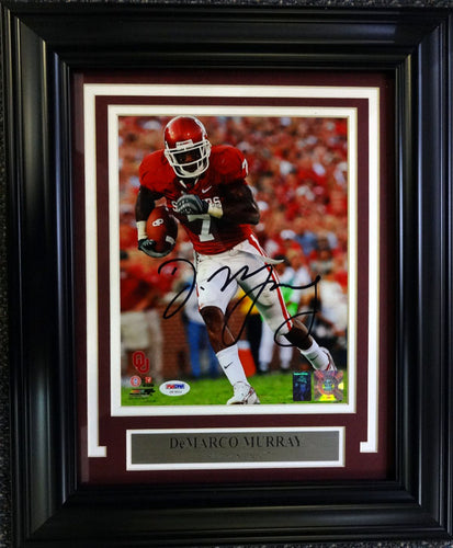 DeMarco Murray Autographed Framed 8x10 Photo Oklahoma Sooners PSA/DNA