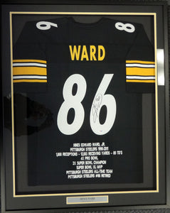 bb8fcc82b Pittsburgh Steelers Hines Ward Autographed Framed Black Jersey PSA ...