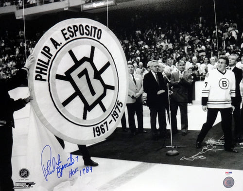 Phil Esposito Autographed 16x20 Photo Boston Bruins