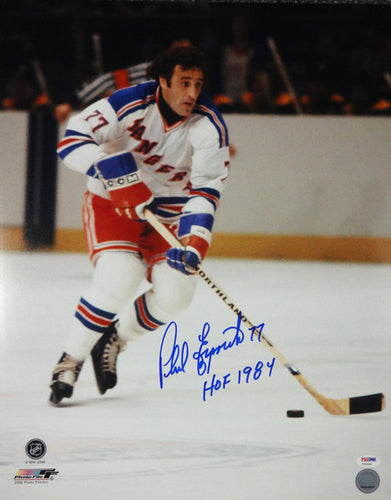 Phil Esposito Autographed 16x20 Photo New York Rangers