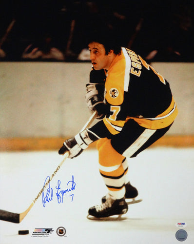 Phil Esposito Autographed 16x20 Photo Boston Bruins PSA/DNA