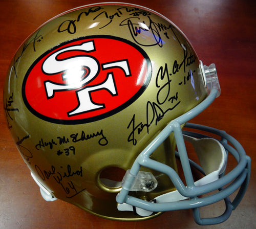 San Francisco 49ers Team Greats Autographed Full Size Helmet With 19 Signatures Including Joe Montana, Jerry Rice & Steve Young PSA/DNA