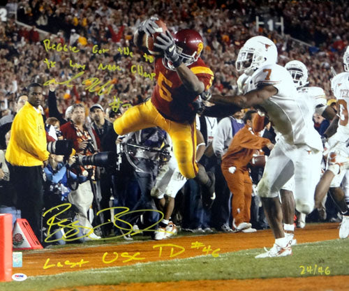 Reggie Bush & Michael Huff Autographed 20x24 Photo #/46 PSA/DNA