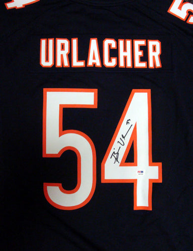 Chicago Bears Brian Urlacher Autographed Blue & White Nike Jersey Size XL PSA/DNA