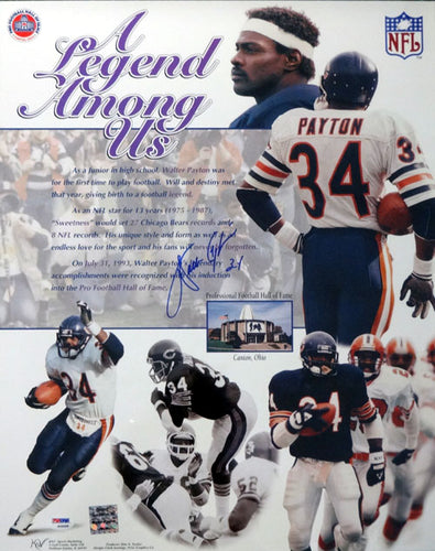Walter Payton Autographed 16x20 Poster Photo Chicago Bears PSA/DNA