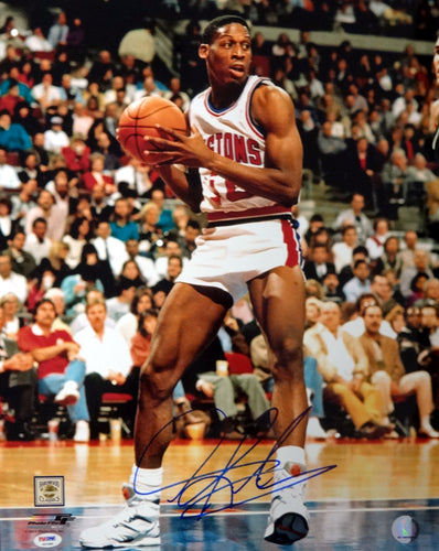 Dennis Rodman Autographed 16x20 Photo Detroit Pistons PSA/DNA