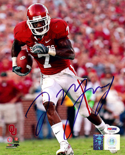 DeMarco Murray Autographed 8x10 Photo Oklahoma Sooners PSA/DNA
