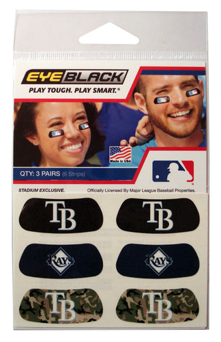 Tampa Bay Rays 3 Pack Eye Black