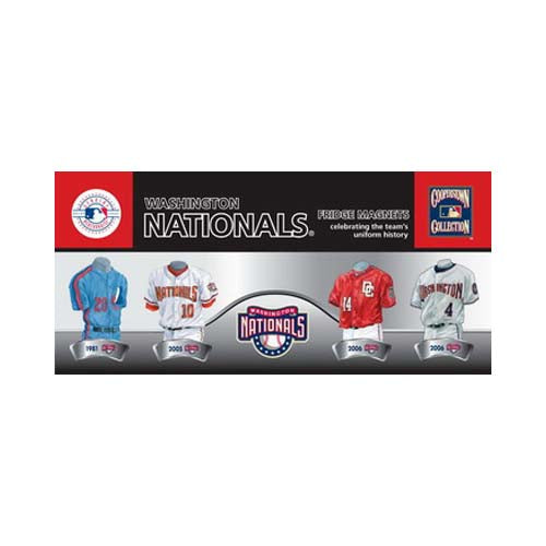 4 Pack Uniform Magnet Set - MLB - Washington Nationals
