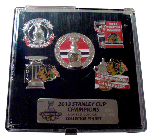 2013 NHL Stanley Cup Champions Chicago Blackhawks 5-Pin Collectors Set