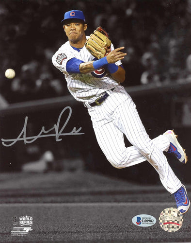 Addison Russell Autographed 8x10 Photo Chicago Cubs World Series