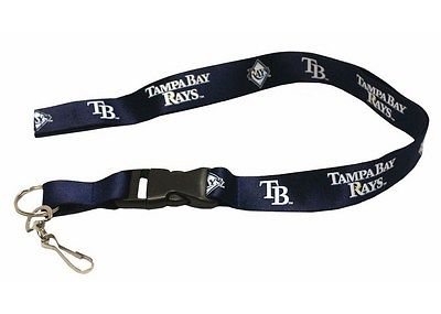MLB Tampa Bay Rays Breakaway Lanyard with Key Ring